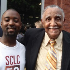 Reginald Crossley with Joseph Lowery
