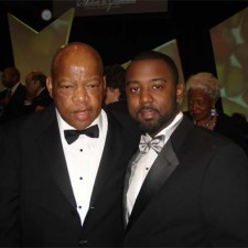 Reginald Crossley with Senator John Lewis